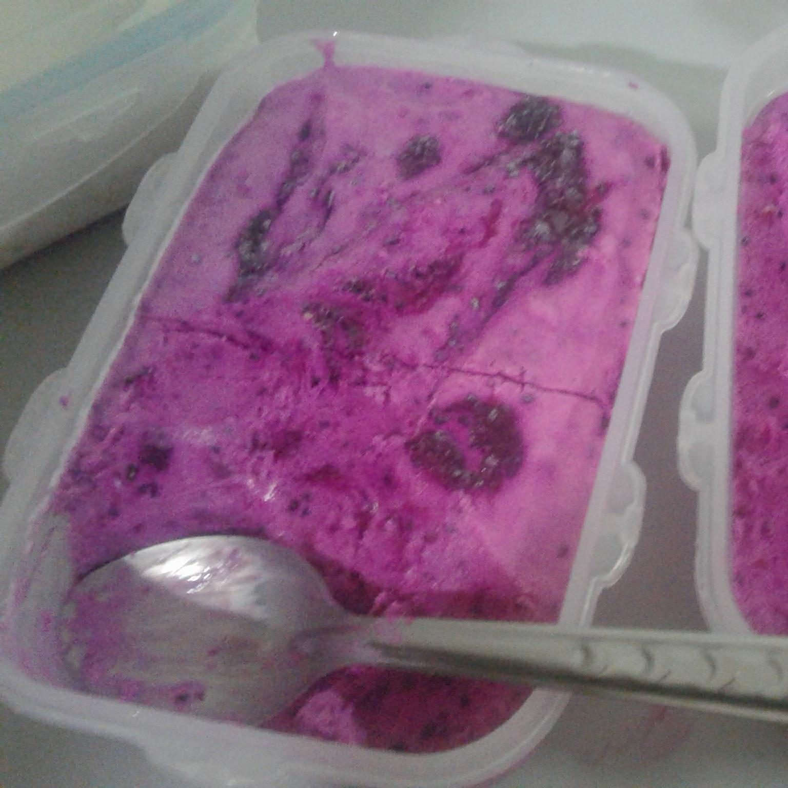 No Churn Dragon Fruit Ice Cream