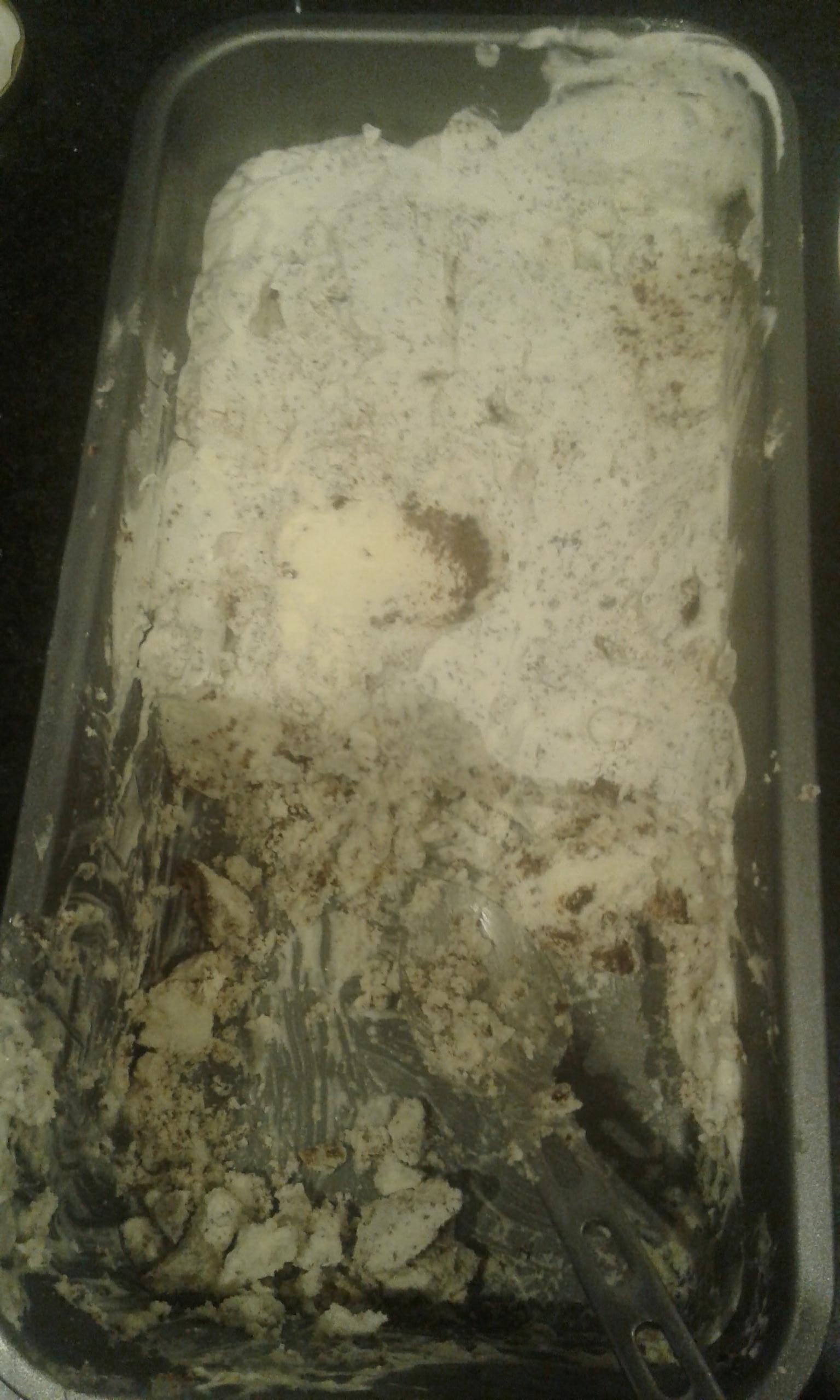 Finished keto cookies and cream ice cream